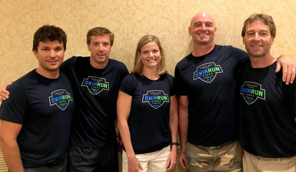Todd and four fellow triathletes
